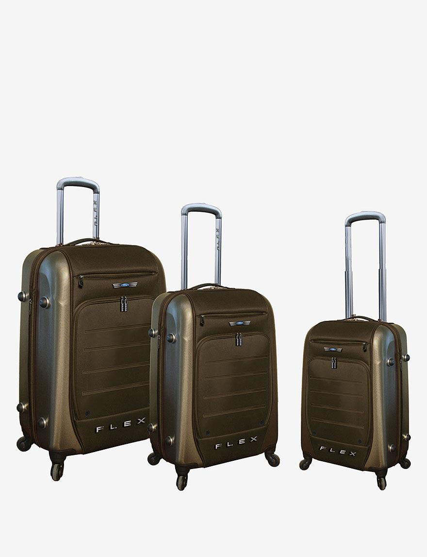 Travelers Club Luggage Brown