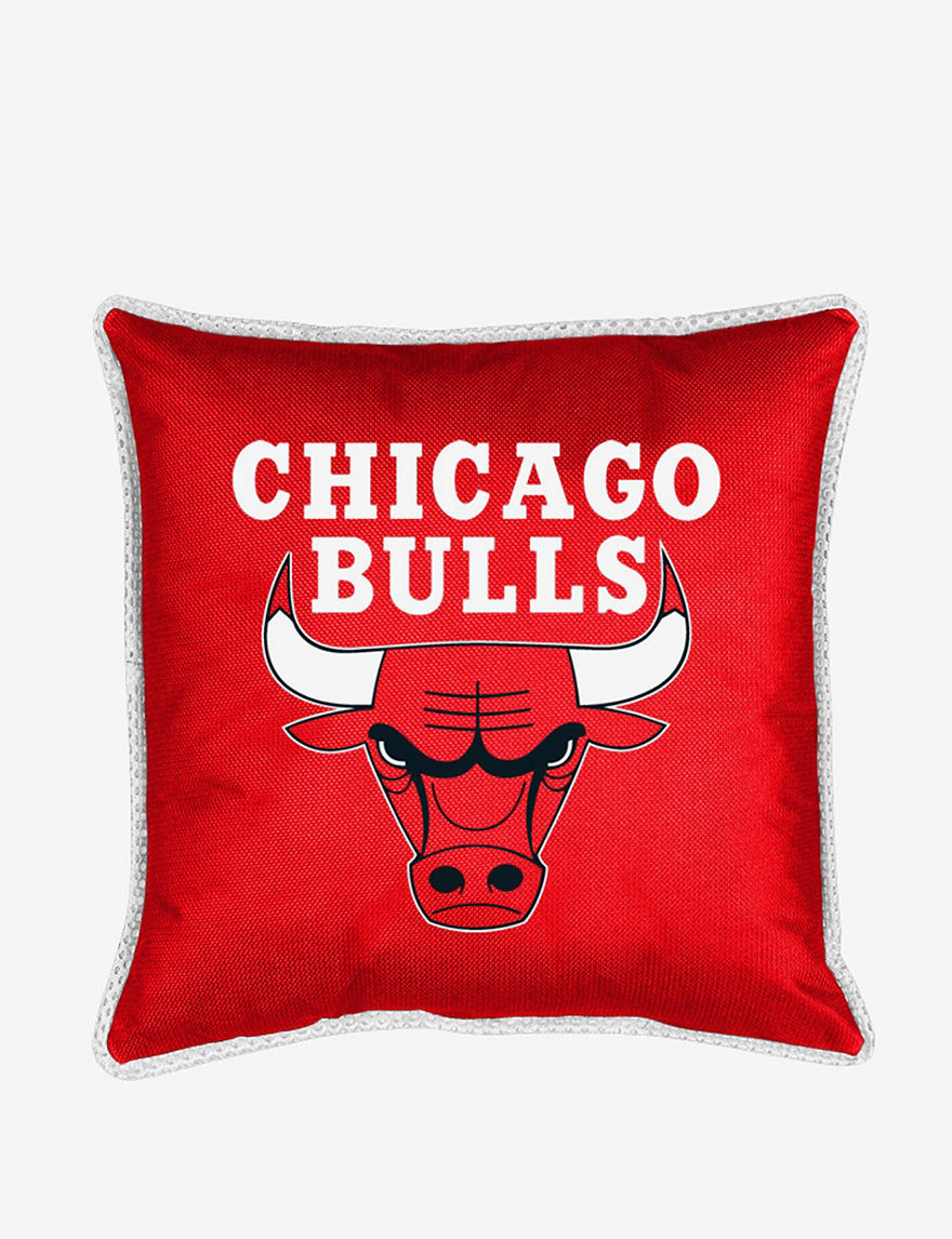 Sports Coverage Red Decorative Pillows NBA
