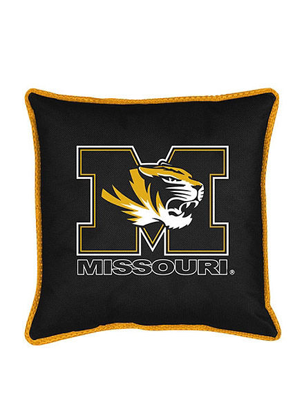 Sports Coverage Black Decorative Pillows NCAA