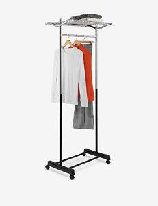 Honey-Can-Do Garment Rack with Top Shelf