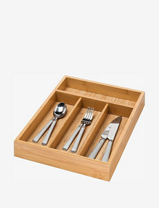 Honey-Can-Do Bamboo 4 Compartment Cutlery Tray