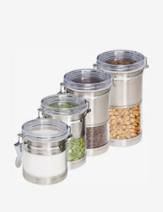 Honey-Can-Do 4-Pk Stainless Steel & Acrylic Canisters