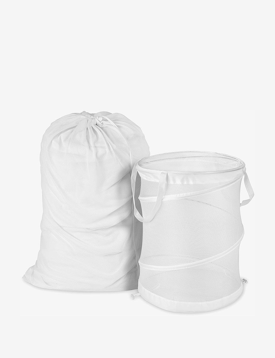 Honey-Can-Do International White Laundry Hampers