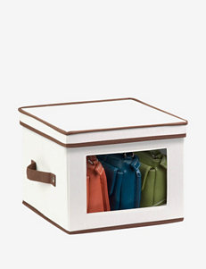 Honey-Can-Do Natural Canvas Medium Window Storage Box