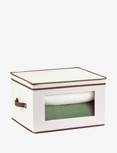 Honey-Can-Do Natural Canvas Tall Window Storage Chest