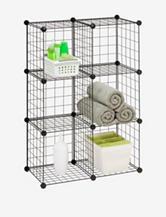 Honey-Can-Do 6-pk Modular Mesh Storage Cube