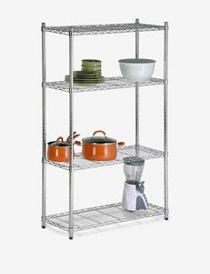 Honey-Can-Do 4-Tier Chrome Shelving Unit