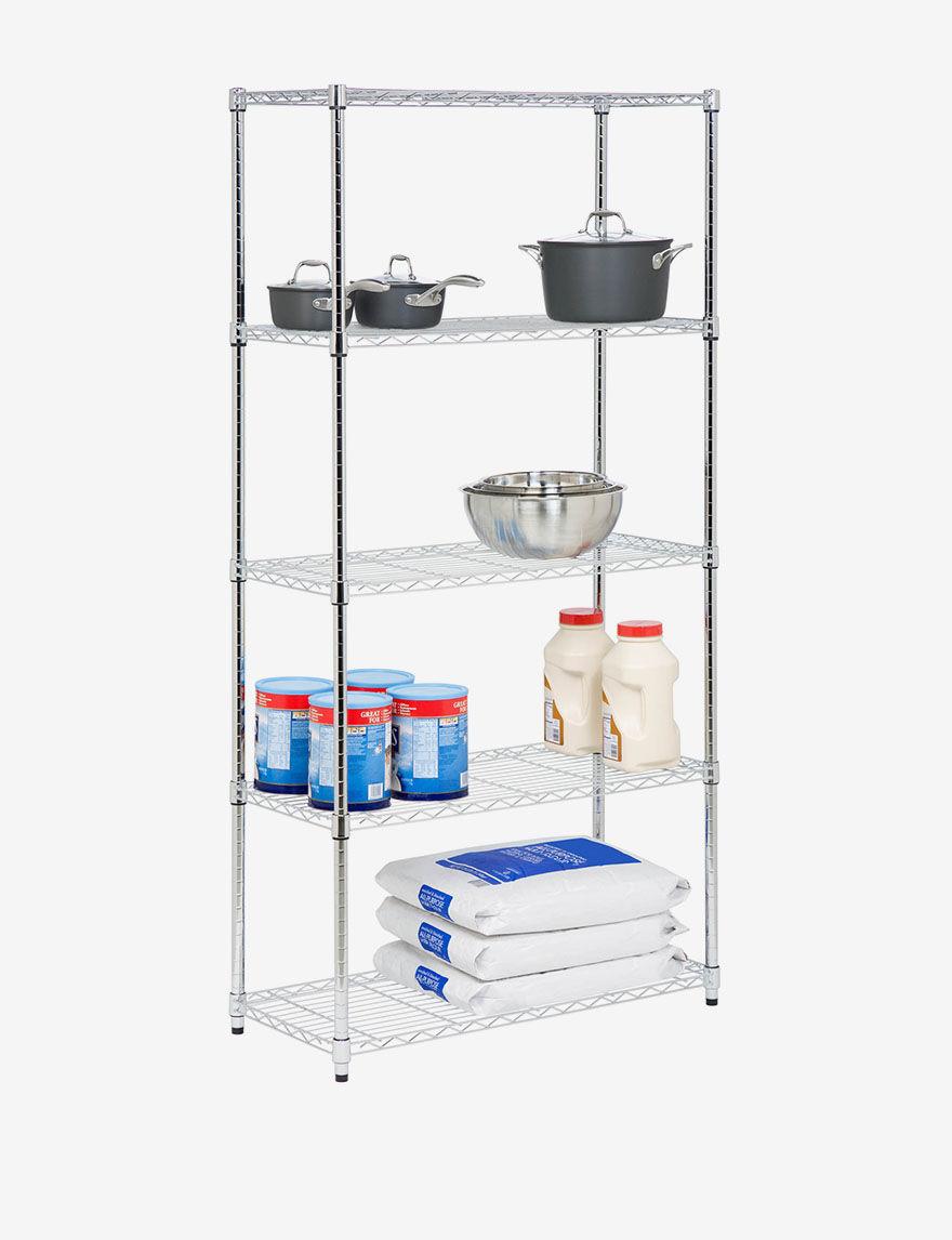 Honey-Can-Do International Silver Storage Shelves