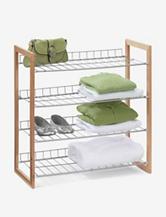 Honey-Can-Do 4-Tier Wood and Metal Storage Shelf
