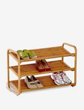 Honey-Can-Do 3-Tier Deluxe Bamboo Shoe Shelf