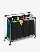Honey-Can-Do Mesh Bag Deluxe Quad Laundry Sorter