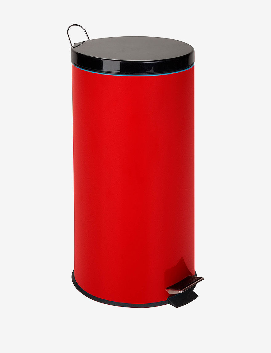 Honey-Can-Do International Red Trash & Recycling Bins