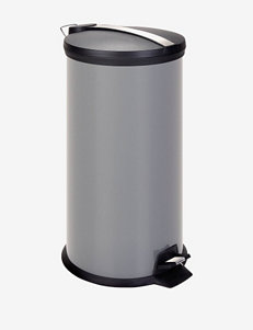Honey-Can-Do Grey 30L Metal Step Trash Can