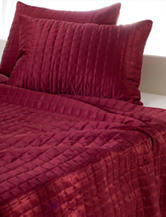 Rizzy Home Diamond Quilted Bed Set - Cherry