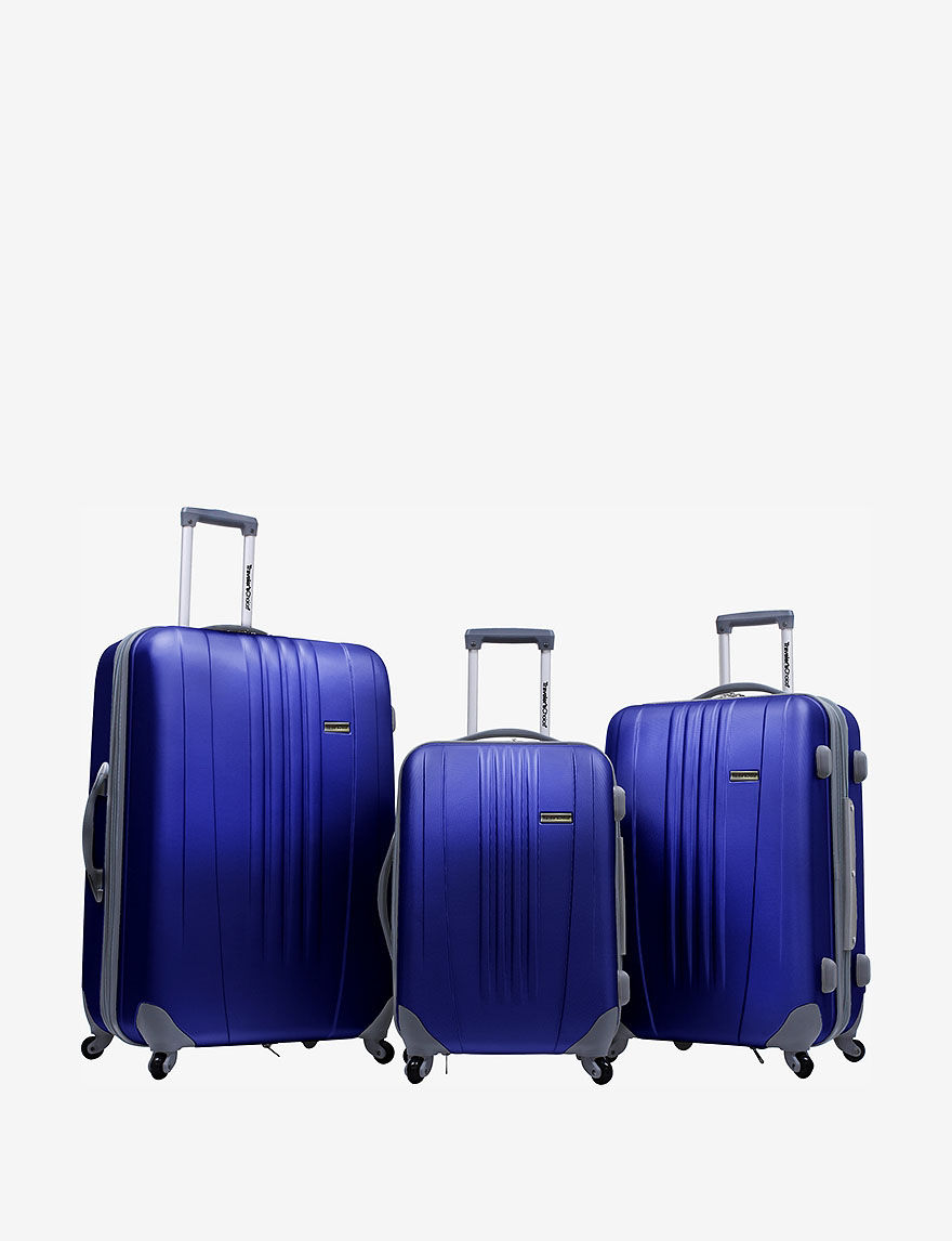 Navy Luggage Sets Upright Spinners