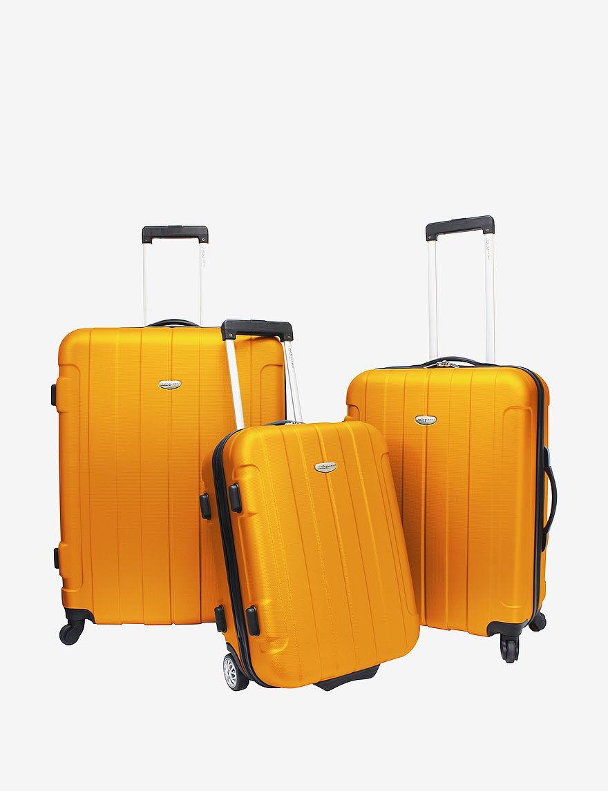 Orange Luggage Sets Upright Spinners