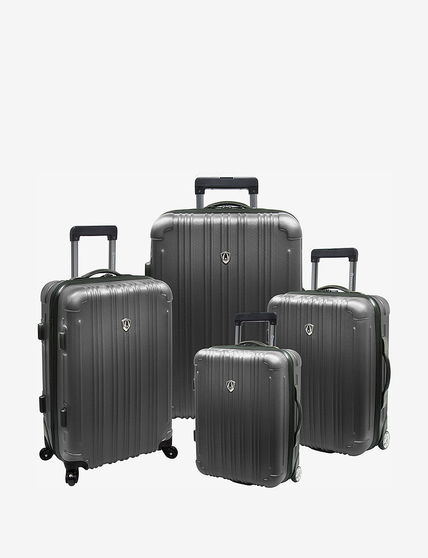 Grey Luggage Sets Upright Spinners