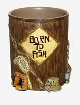 Bacova Guild Born To Fish Wastebasket