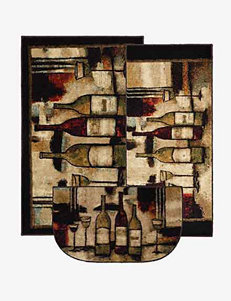 Mohawk Wine & Glasses 3-pc. Rug Set