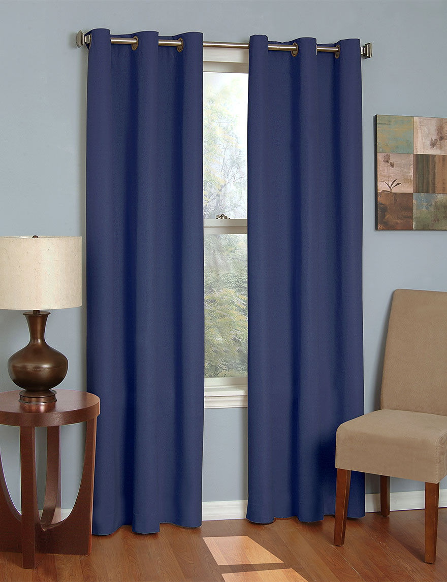 Eclipse Navy Curtains & Drapes