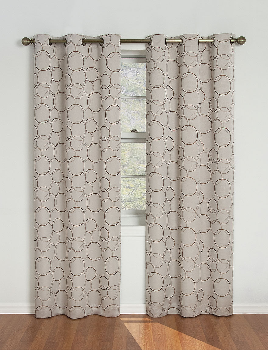 Eclipse Beige Curtains & Drapes