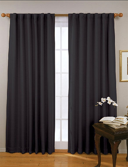Eclipse Dark Blue Curtains & Drapes Window Treatments