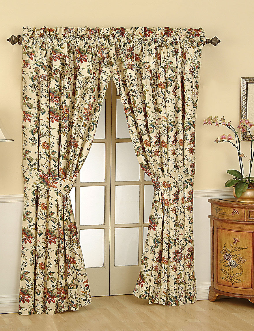 Waverly Cream Curtains & Drapes