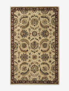 Nourison India House Traditional Beige Thin Border Rug