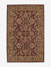 Nourison India House Traditional Burgundy Thin Border Rug