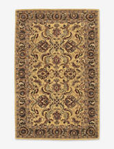 Nourison India House Traditional Gold Thin Border Rug