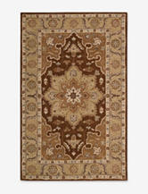 Nourison India House Traditional Chocolate Center Medallion Rug
