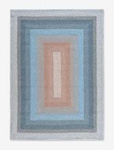 Nourison Craftworks Border Blue Rug