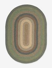 Nourison Craftworks Border Spruce Oval Rug