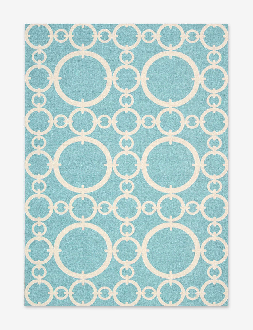 Waverly Aqua Area Rugs Rugs