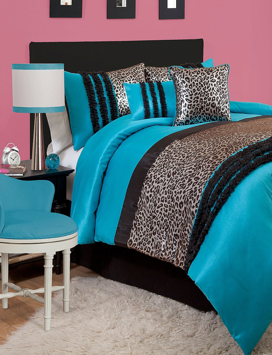 Lush Decor Blue / Black Comforters & Comforter Sets