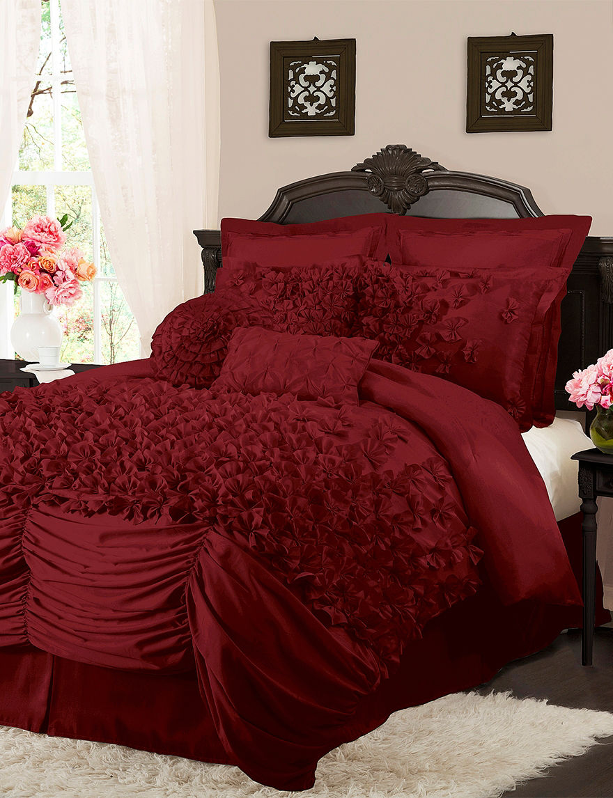 Lush Decor Red Comforters & Comforter Sets