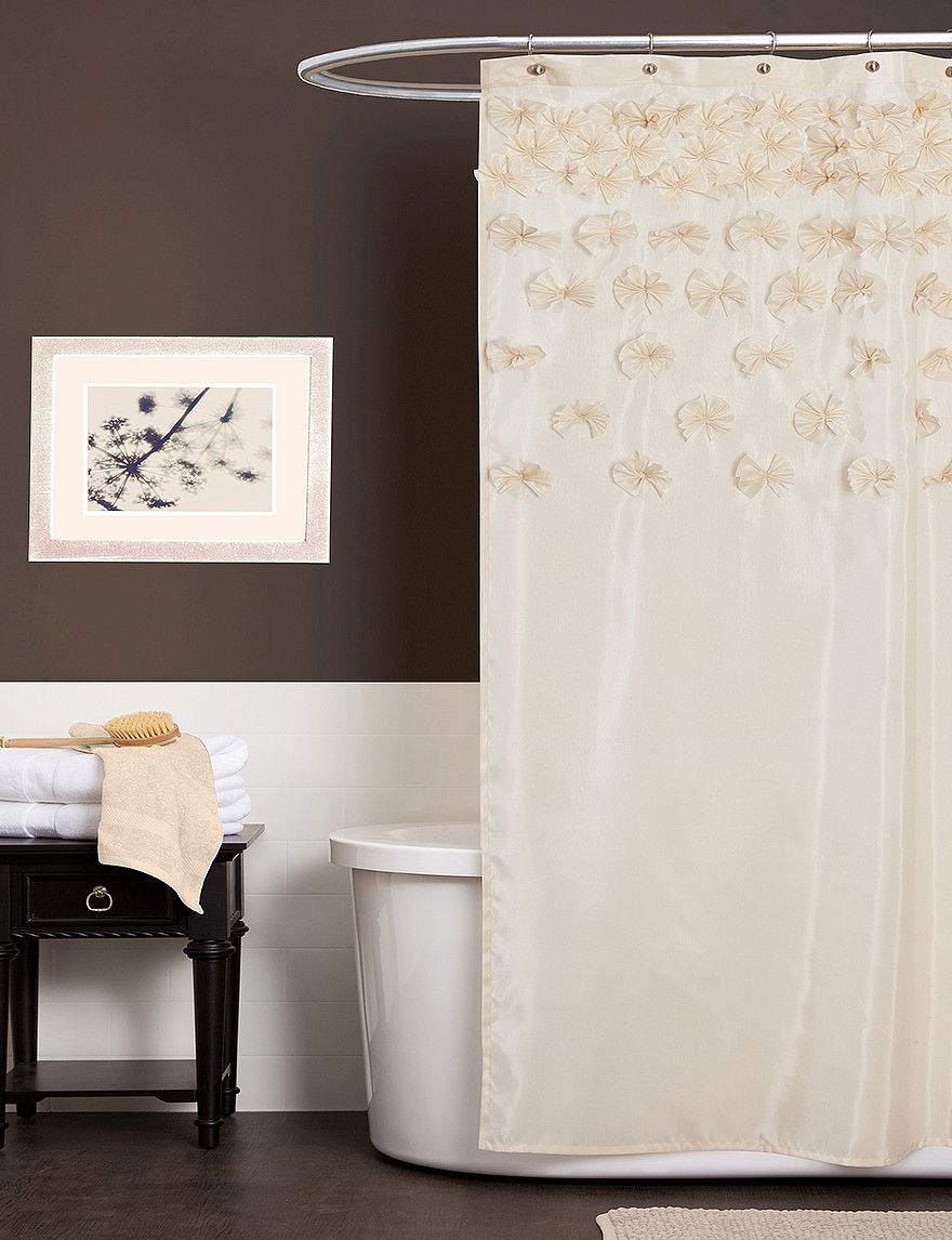 Lush Decor Lucia Ivory Shower Curtain Stage Stores