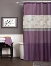 Lush Decor Covina Purple Shower Curtain