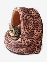 PAW Furry Canopy Cave Pet Bed