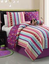 Victoria Classics Poodle Lily Reversible Comforter Set