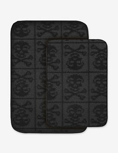 Garland Rug Black Bath Accessory Sets Bath Rugs & Mats