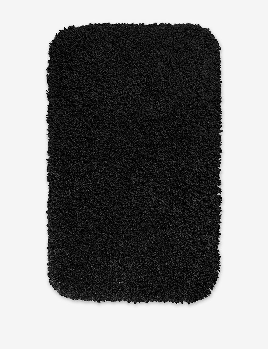 Garland Rug Black Bath Rugs & Mats