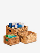 Honey-Can-Do 3-pc. Nesting Banana Leaf Basket Set