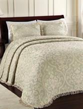 Lamont Home Brocade Sage Bedspread