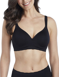 Ellen Tracy Black Bras Comfort Seamless Wireless