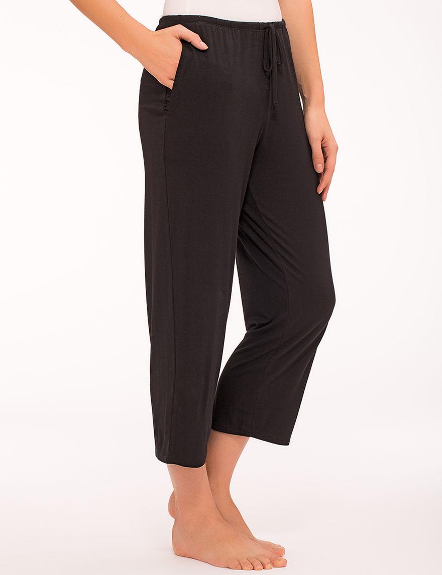 Ellen Tracy Black Pajama Bottoms