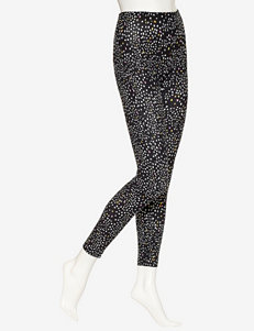 Hue® Black Spotted Leggings