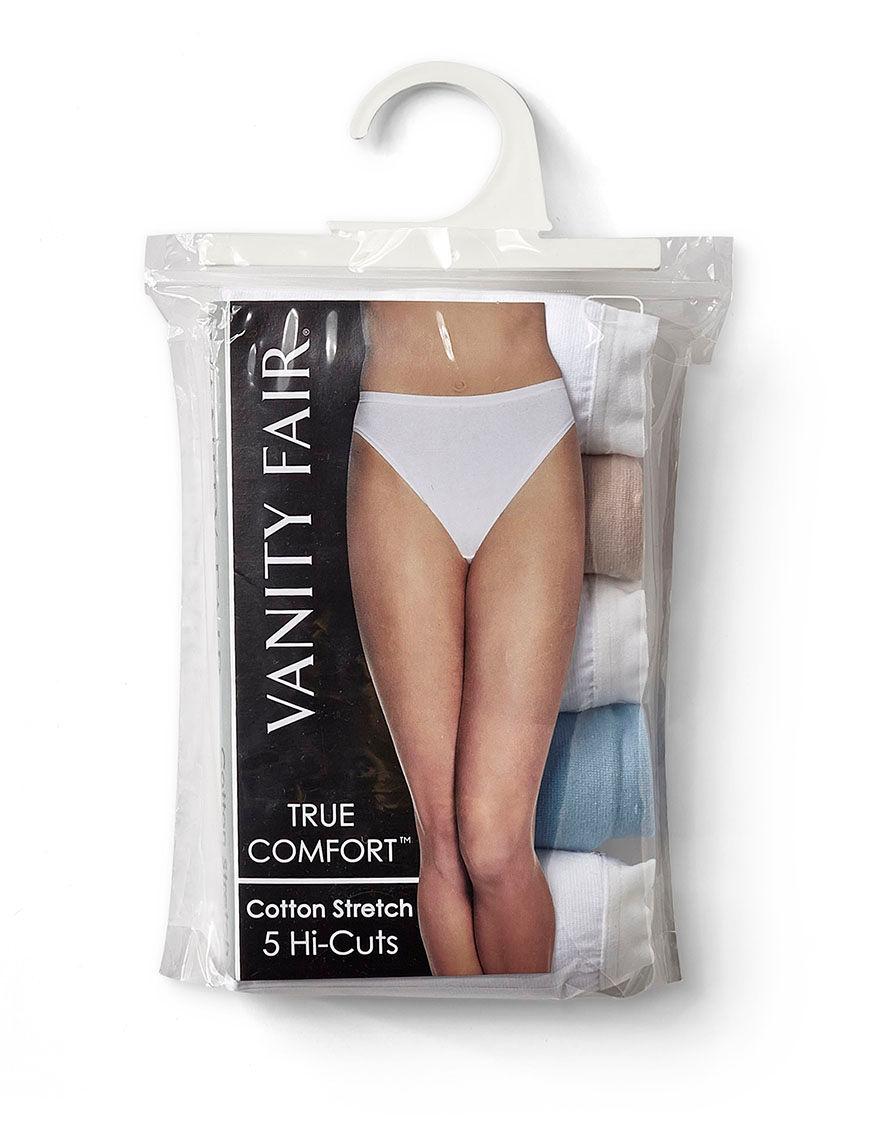 Vanity Fair Tan Multi Panties High Cut