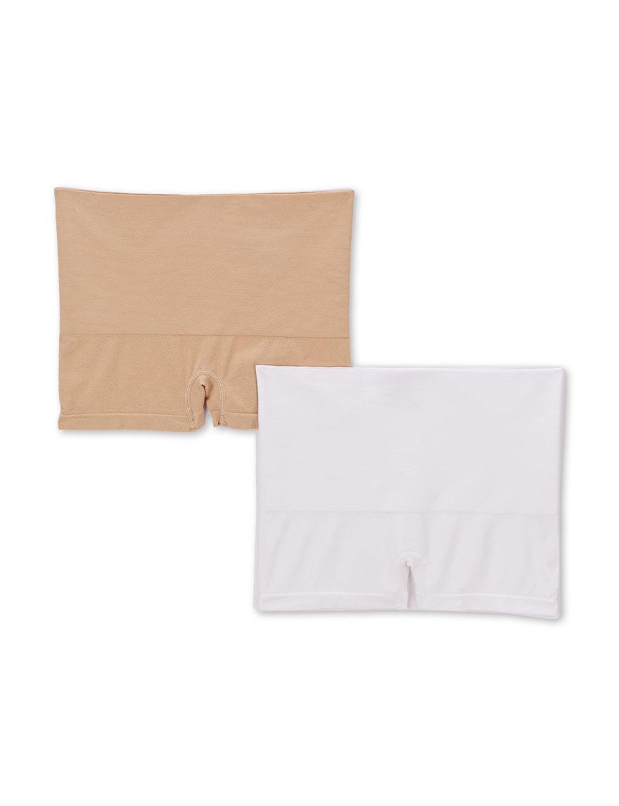 Ellen Tracy Khaki / White Slips & Shapewear High Waist
