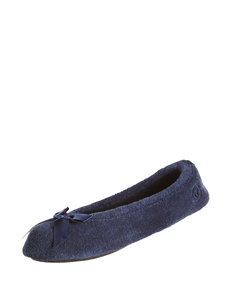 Isotoner Navy Slipper Shoes